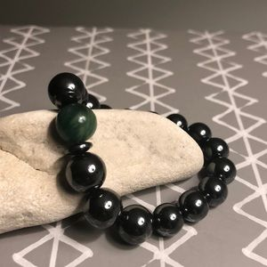 Hematite and Jade Power Bracelet